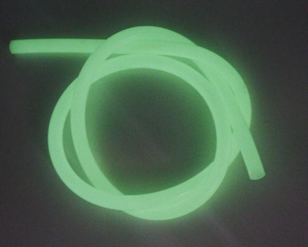 Silikonschlauch Glow - Grün